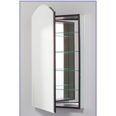 M Series 16X40 Medicine Cabinet, Arch Door, Bevel Edge, Left Side Hinges, 15-1/4'' W x 6'' D x 43-3/8'' H