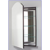 M Series 16X30 Medicine Cabinet, Arch Door, Bevel Edge, Left Side Hinges, 15-1/4'' W x 6'' D x 34'' H
