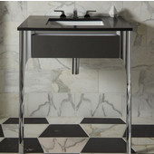 Balletto Collection Slim Drawer Bathroom Vanity with Night Light and Plumbing Drawer in Multiple Sizes and Color Options
