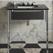 Balletto Collection Slim Drawer Bathroom Vanity with Tip Out Drawer in Multiple Sizes and Color Options
