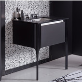 Balletto Collection Single Drawer Bathroom Vanity with Night Light and Plumbing Drawer in Multiple Sizes and Color Options