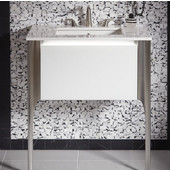 Balletto Collection Single Drawer Bathroom Vanity with Plumbing Drawer in Multiple Sizes and Color Options