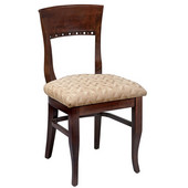 Regal Wood Chair with Upholstered Seat