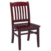 Regal Wood Chair with Wooden Seat