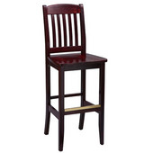 Regal Wood Bar Stool with Wooden Seat