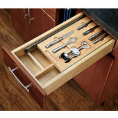 Rev-A-Shelf Casetti Cutlery Drawer with Blumotion Under Mount Soft-Close Runners for 15'' Cabinet, Includes Bar Accessories