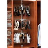 Rev-A-Shelf Women's 3-Tier Lazy Shoe-zen, Holds up to 15 Pairs, Chrome