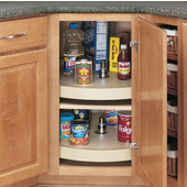 Rev-A-Shelf Full Circle Rev-A-Tray Lazy Susan in Almond Polymer, 16'' - 32'' Diameters Available