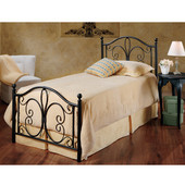 Milwaukee Collection Twin Bed Set with Rails in Antique Brown (Set Includes: Headboard, Footboard and Rails)