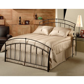 Vancouver Collection Queen Bed Set with Rails in Antique Brown (Set Includes: Headboard, Footboard and Rails)