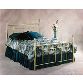 Chelsea Collection Queen Bed Set with Rails in Classic Brass (Set Includes: Headboard, Footboard and Rails)