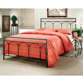 McKenzie Collection Bed Set Queen with Rails in Brown Steel (Set Includes: Headboard, Footboard and Rails)