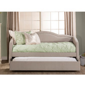 Jasmine Collection Daybed with Trundle in Dove Gray Fabric, 83-1/2'' W x 41-1/2'' D x 39-3/4'' H