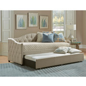 Jamie Daybed with Trundle in Beige, 42'' Wide (Set Includes: Sides, Back and Trundle)