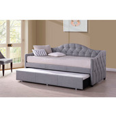 Jamie Daybed With Trundle, Gray Fabric Finish