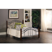 Matson / Winsloh King Bed Set w/ Rails, Cherry / Black