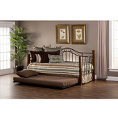 Matson Daybed w/Suspension Deck and Trundle, Cherry/Black