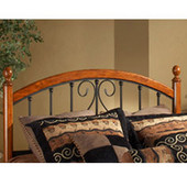 Burton Way Full/Queen Headboard in Black Powder Coat/Cherry (Includes Rails), 62''W x 71-1/4''D x 54-1/4''H