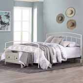 Julien King Metal Bed Set, Textured White (Includes Headboard, Footboard and Bed Frame)