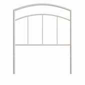 Julien Twin Metal Headboard and Frame, Textured White, 53-3/4''W x 64-1/4''D x 46''H