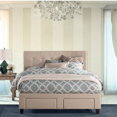 King Size Duggan Headboard with Frame in Linen Beige, 78-1/2'' Wide (Available Multiple Sizes Set Includes: Headboard and Leg Frame)