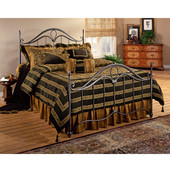 Kendall Collection Full Bed Set with Rails in Bronze (Set Includes: Headboard, Footboard and Rails)