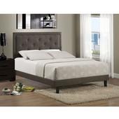 63'' W x 81-1/4'' D x 52-1/4'' H Becker Queen Bed Set in Dark Heather w/ Rails