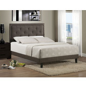 42'' W x 77'' D x 52-1/4'' H Becker Twin Bed Set in Dark Heather w/ Rails