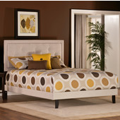 Becker Collection Twin Bed Set with Rails in Cream (Set Includes: Headboard, Footboard and Rails)