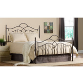 Oklahoma Collection Full Bed Set with Rails in Bronze (Set Includes: Headboard, Footboard and Rails)