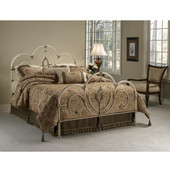 Victoria Collection Twin Bed Set with Rails in Antique White (Set Includes: Headboard, Footboard and Rails)