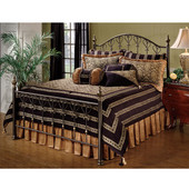 Huntley Collection Full Bed Set with Rails in Dusty Bronze (Set Includes: Headboard, Footboard and Rails)