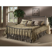 Edgewood Collection Twin Bed Set with Rails in Magnesium Pewter (Set Includes: Headboard, Footboard and Rails)