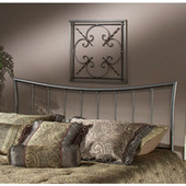 Edgewood Twin Headboard in Magnesium Pewter (Includes Rails), 41''W x 63-1/2''D x 48''H