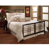 Tiburon Collection Full Bed Set with Rails in Magnesium Pewter (Set Includes: Headboard, Footboard and Rails)
