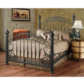 Chesapeake Collection King Bed Set with Rails in Rustic Old Brown (Set Includes: Headboard, Footboard and Rails)