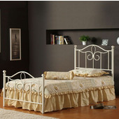 Westfield Metal Full Bed Set in White (Includes Headboard, Footboard & Rails), 54-1/2''W x 72''D x 47-1/2''H