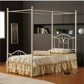 Westfield Canopy Full Bed Set in White (Includes Headboard, Footboard & Rails), 54-1/2''W x 72''D x 80-1/2''H