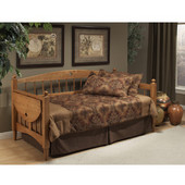 Dalton Daybed w/Suspension Deck and Trundle, Medium Oak, 109-3/8''W x 40''D x 39''H