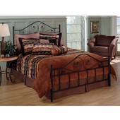 Harrison Collection Full Bed Set with Rails in Textured Black (Set Includes: Headboard, Footboard and Rails)
