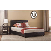 Hillsdale Hayden Bed in a Box - Full in Brown PU, 57''W x 83-1/4''D x 35''H