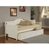 Staci Daybed w/Trundle, White, 81-1/2''W x 41-1/2''D x 37''H