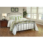 Morris Collection Full Bed Set with Rails in Magnesium Pewter (Set Includes: Headboard, Footboard and Rails)