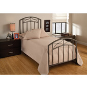 Morris Collection Twin Bed Set with Rails in Magnesium Pewter (Set Includes: Headboard, Footboard and Rails)