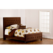 Kaylie Collection Queen Bed Set with Rails in Chocolate (Set Includes: Headboard, Footboard and Rails)