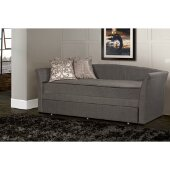 Montgomery Daybed with Trundle Unit in Medium Gray Fabric, 43-13/16'' W x 95'' D x 39-1/2'' H