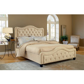Trieste Queen Bed Set w/ Rails, Buckwheat