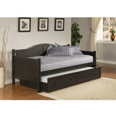 Staci Daybed w/Trundle, Black, 81-1/2''W x 41-1/2''D x 37''H