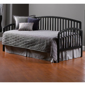 Carolina Daybed w/Suspension Deck, and Roll-Out Trundle - Black, Black, 76''W x 39''D x 40''H