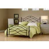 Cole Collection Full Bed Set with Rails in Black Twinkle (Set Includes: Headboard, Footboard and Rails)
